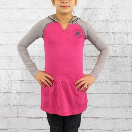 Converse Kinder Mädchen Langarm Kleid mit Kapuze cosmos pink
