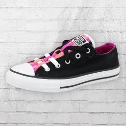 Converse Kinder Schuhe 651742C Loopholes Slip schwarz