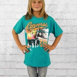 Converse Kinder T-Shirt Chuck Tops Tee messange blau