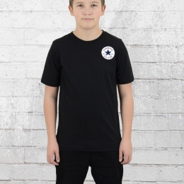 Converse Kinder T-Shirt Left Chest schwarz