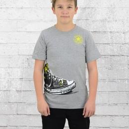 Converse Kinder T-Shirt Shoe Wrap Tee grau melange