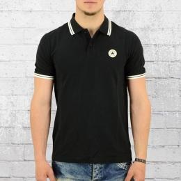 Converse Männer Polo Shirt Core Pinstripe Vintage schwarz