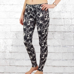 Converse Printed Poly Leggings schwarz weiss