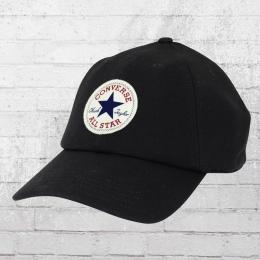 Converse Sweatshirt Mütze Lightweight Fleece Precurved Cap schwarz
