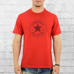 Converse T-Shirt Herren Plevated Monochrome rot meliert