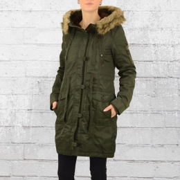 Cordon Damen Parka Harissa Winter Mantel grün