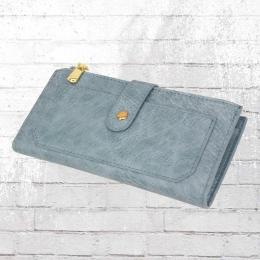 Dariya Wallet Portemonnaie Damen PU Geldbörse blau