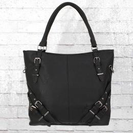 Dariya Frauen Handtasche Shopper schwarz