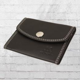 Dariya Wallet RFID Geschützte Mini Leder Börse schwarz