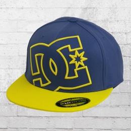 DC Shoes 210 Premium Flexfit Cap Ya Heard Kappe blau gelb L/XL