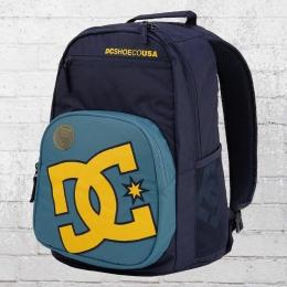 DC Shoes Backpack Rucksack Detention Laptop-Fach dunkelblau gelb