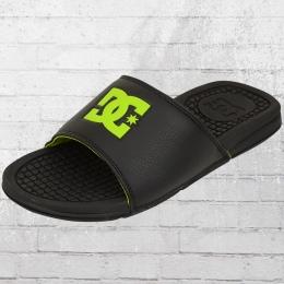 DC Shoes Badeschlappen Bolsa Badelatschen schwarz grün