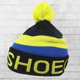 DC Shoes Bommel Mütze Nosestall Beanie gelb schwarz