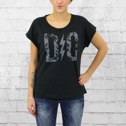 DC Shoes Damen T-Shirt Rose Tee Oversized schwarz