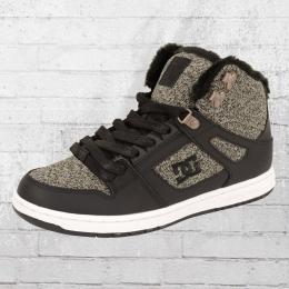 DC Shoes Damen Winterschuhe Rebound Sneaker schwarz grau
