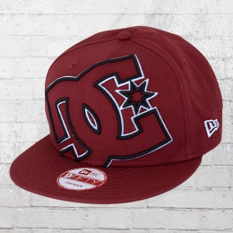 DC Shoes Double Up New Era Snapback Cap weinrot