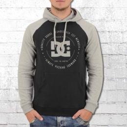 DC Shoes Herren Kapuzen Sweatshirt Rebuilt schwarz grau