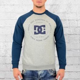 DC Shoes Herren Sweatshirt Rebuilt Raglan grau blau