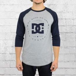 DC Shoes Herren T-Shirt Rebuilt Raglan Longsleeve grau blau