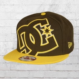 DC Shoes Kappe Double Up New Era Snapback Cap braun gelb