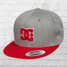 DC Shoes Kappe Yupoong Snapback Cap Snappy grau rot