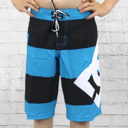 DC Shoes Kinder Boardshort Lanai Boys hazard blau schwarz gestreift