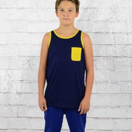DC Shoes Kinder Tank Top Contra navy blau gelb