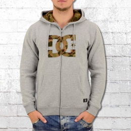 DC Shoes Männer Kapuzenjacke Hook Up grau melange