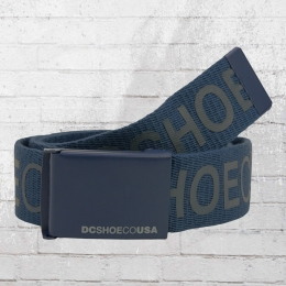 DC Shoes Wende Stoff Gürtel Chinook 6 Reversible Belt blau grau