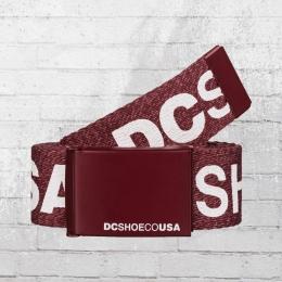 DC Shoes Wende Stoffgürtel Chinook TX Reversible Belt weinrot meliert