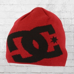 DC Shoes Winter Mütze Big Star Beanie rot schwarz