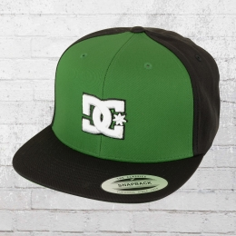 DC Shoes Yupoong Kappe Snapback Cap Snappy grün schwarz