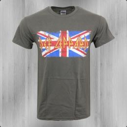 Def Leppard Bandshirt Herren Union Jack grau