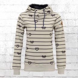 Derbe Damen Kapuzensweater Seemannsbraut Rope grau