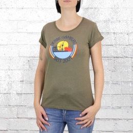 Derbe Damen T-Shirt Hafenring Girls olive