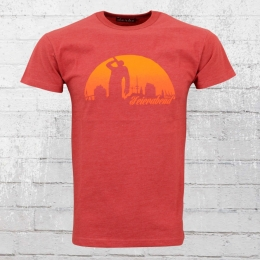Derbe Feierabend Herren T-Shirt Reloaded rot