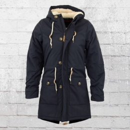 Derbe Festland Friese Wintermantel Damen Parka navy