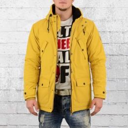 Derbe Festland Parka Männer Winterjacke gelb