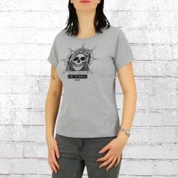 Derbe Frauen T-Shirt Totdy grau