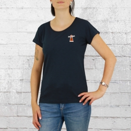 Derbe Frauen T-Shirt Beam Stick blau