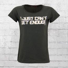 Derbe Frauen T-Shirt I Just Cant Get Enough grau