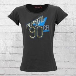 Derbe Frauen T-Shirt Plastik Ist 90er grau