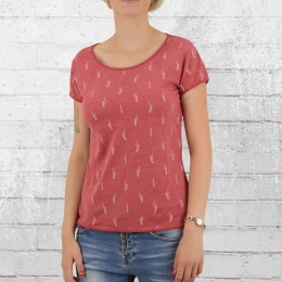 Derbe Ladies T-Shirt Seahorse Allover chilli pepper red