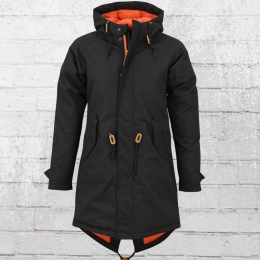 Derbe Hamburg Damen Mantel Wattn Winter schwarz