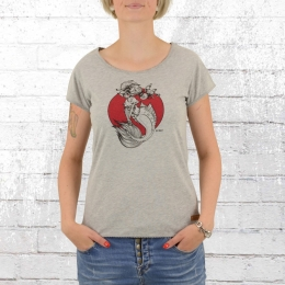 Derbe Hamburg Womens T-Shirt Vida light grey marl