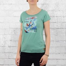 Derbe Hamburg Damen T-Shirt Zu Hause türkis grün
