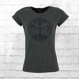 Derbe Hamburg Frauen T-Shirt Barbe Sea Shepherd grau
