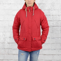 Derbe Hamburg Frauen Winter Jacke Mastwurf rot