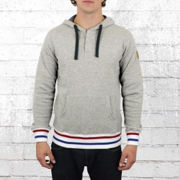 Derbe Hamburg Herren Kapuzensweater Best Buddy grau