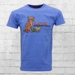 Derbe Hamburg Herren T-Shirt Katerfrühstück blau